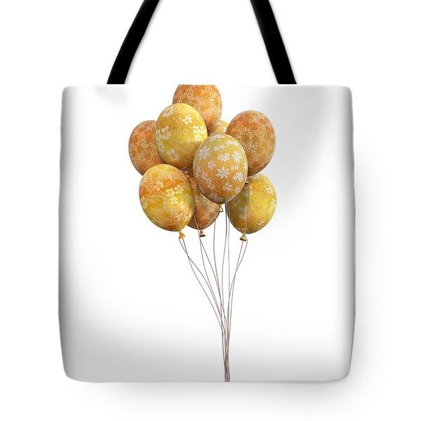 Balloons Golden Tote Bag