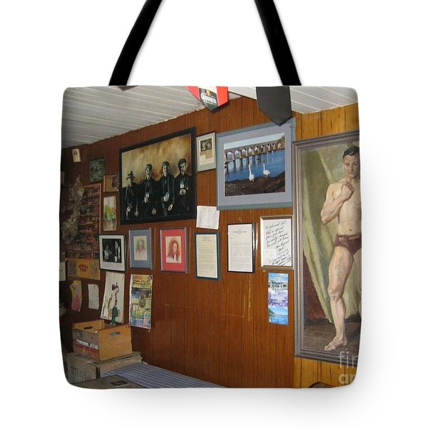 Tote Bag featuring the painting Ballydehob Recolections by Val Byrne