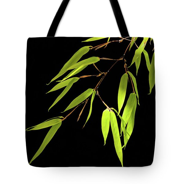 Bamboo Leaves 0580a Tote Bag