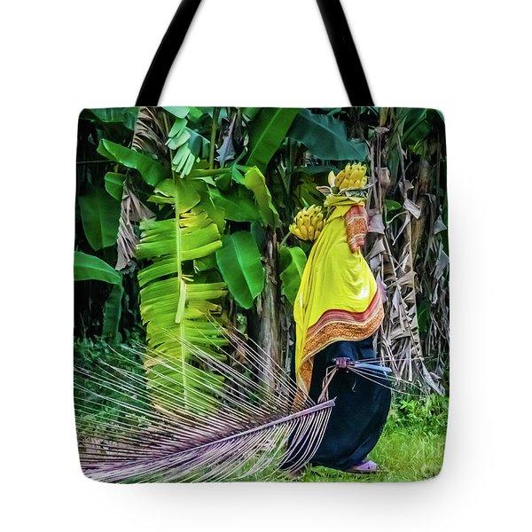 Banana Harvest, Zanzibar, Tanzania Tote Bag