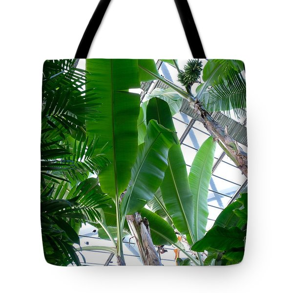 Banana Leaves In The Greenhouse Tote Bag
