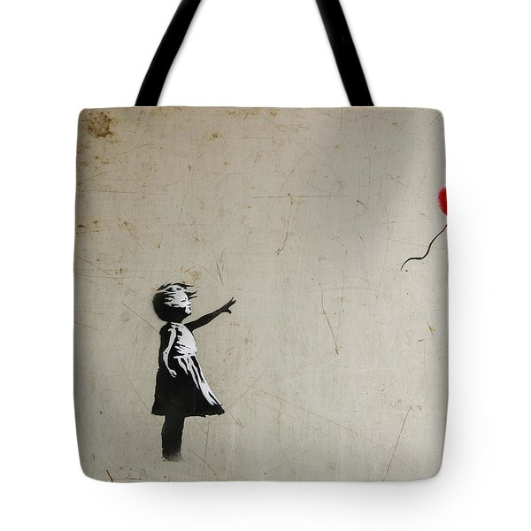 Banksy Balloon Girl Amsterdam Tote Bag