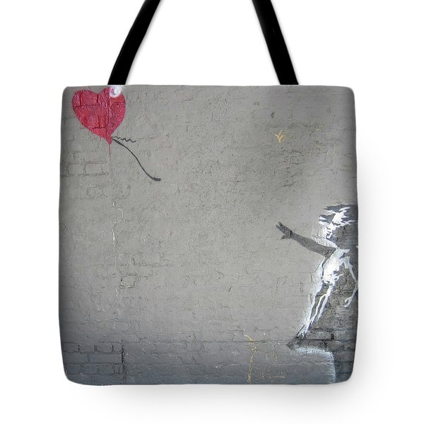 Banksy Girl With Balloon Tote Bag