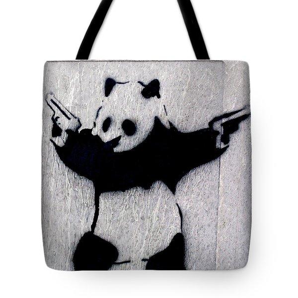 Banksy Panda Tote Bag