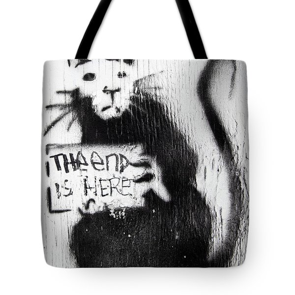 Banksy Rat The End Is Here Tote Bag