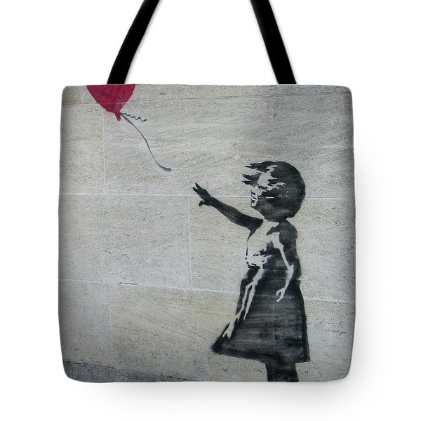 Banksy Street Art Balloon Girl Tote Bag