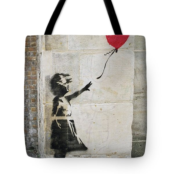 Banksy Street Art Girl With Balloon Tote Bag