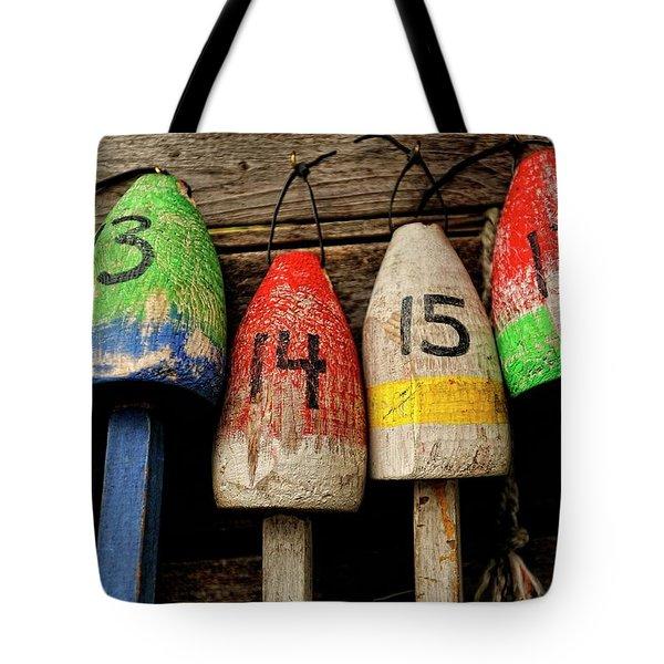 Bar Harbor Bouys Tote Bag