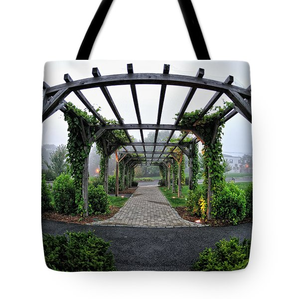 Bar Harbor Pergola Tote Bag