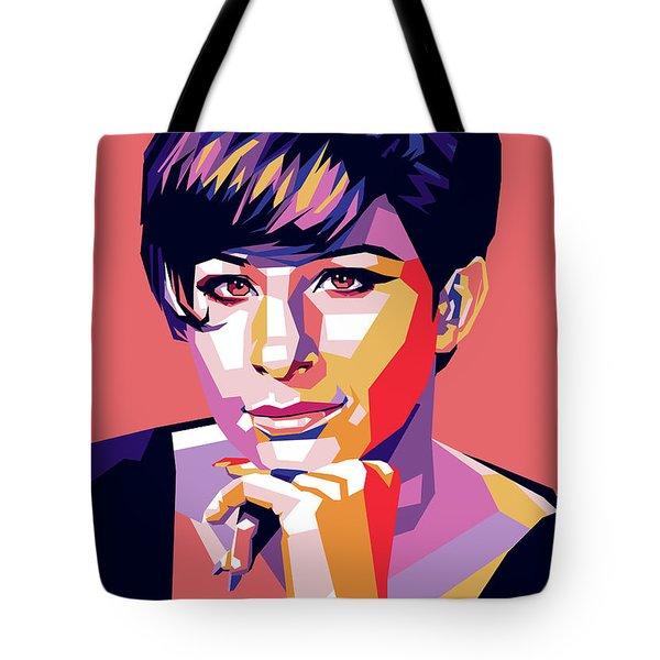 Barbra Streisand Pop Art Tote Bag