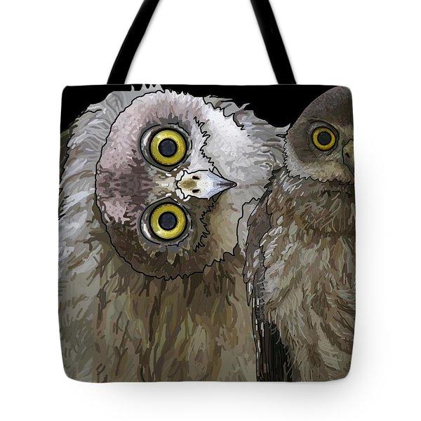 Barking Owls 2 Tote Bag
