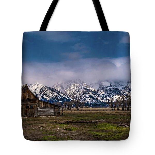 Barn At Mormon Row Tote Bag