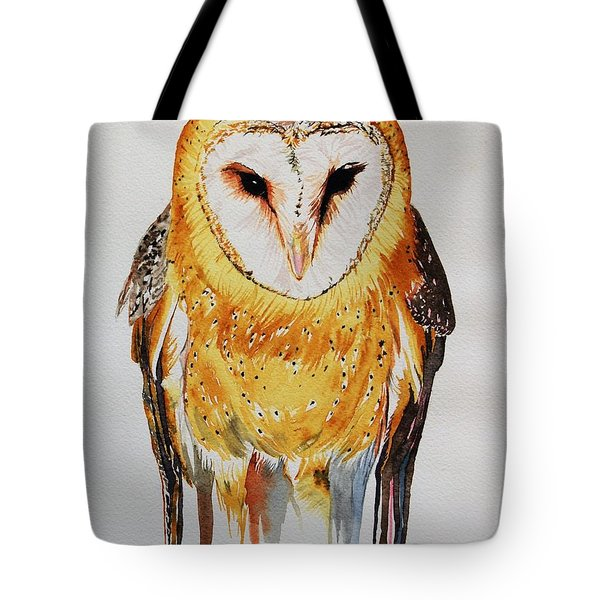 Barn Owl Drip Tote Bag