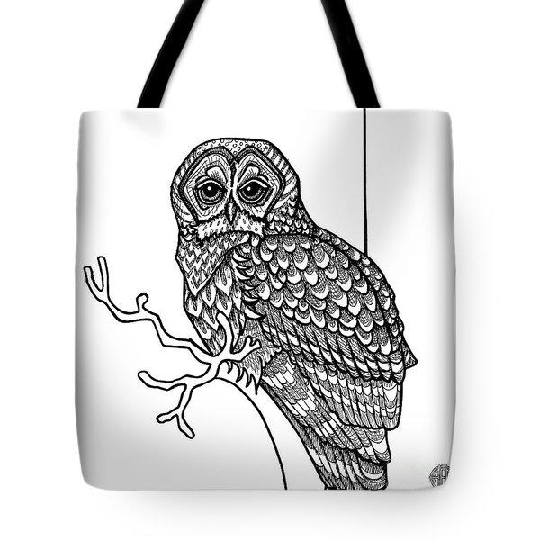 Barred Owl Tote Bag