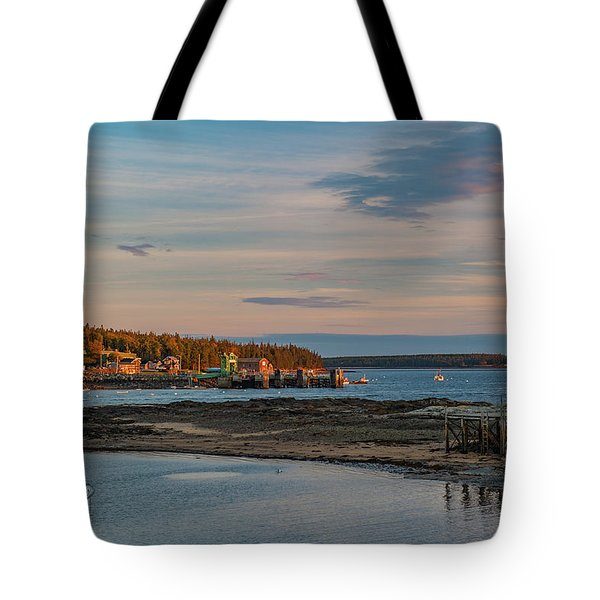 Tote Bag featuring the photograph Bass Harbor Sunset by Rick Hartigan