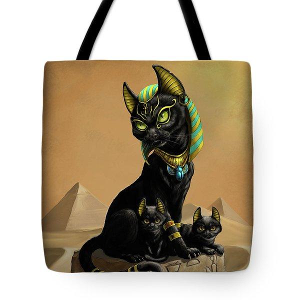 Bastet Egyptian God Tote Bag
