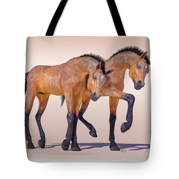 Bay Foal Pair Tote Bag