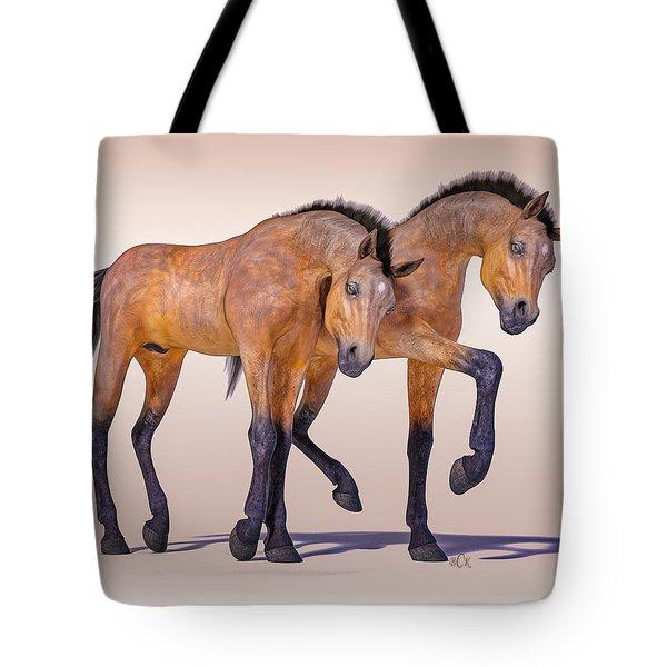 Bay Foal Pair Tote Bag