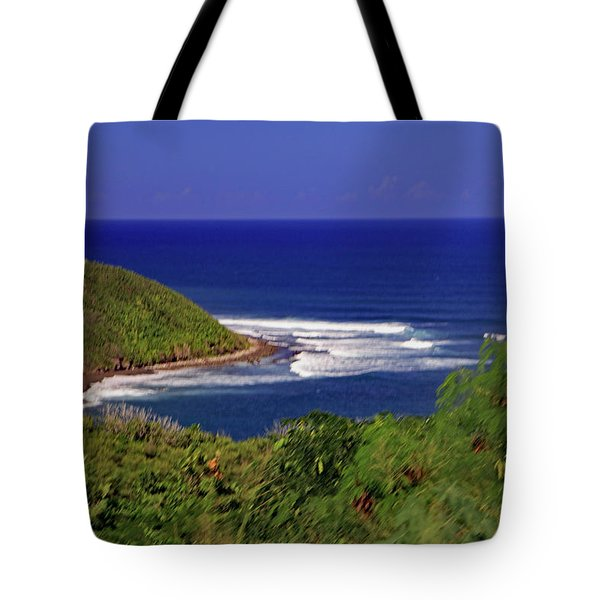 Tote Bag featuring the photograph Bay In St Kitts by Tony Murtagh