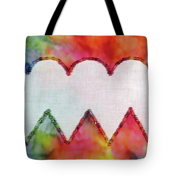Be Still My Beaded Hearts Tote Bag