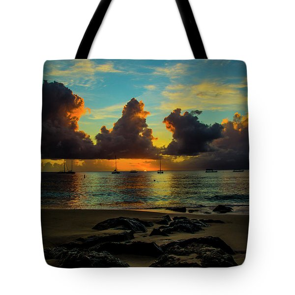 Beach At Sunset 2 Tote Bag