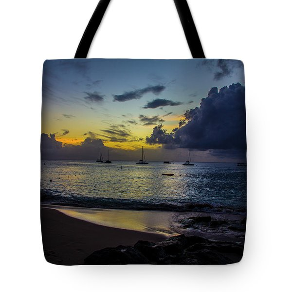 Beach At Sunset 3 Tote Bag