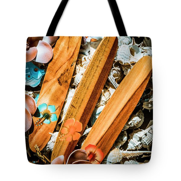 Beach Boards Tote Bag