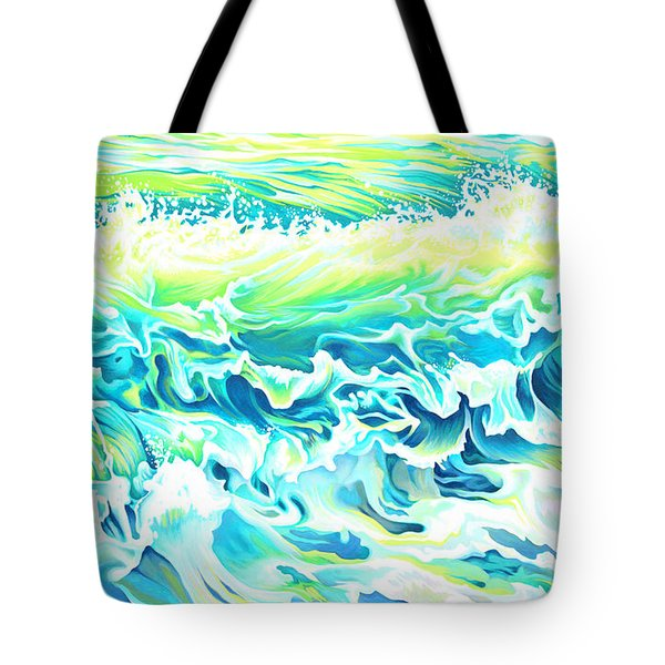 Beach Break Wave Tote Bag