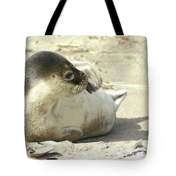 Beach Seal Tote Bag