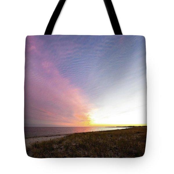 Beach Sunset West Dennis Cape Cod Tote Bag