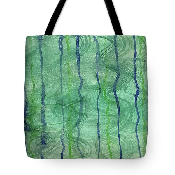 Beach Water Lines Tote Bag