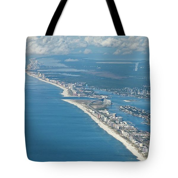 Tote Bag featuring the photograph Beachmiles-5137-tm by Gulf Coast Aerials -