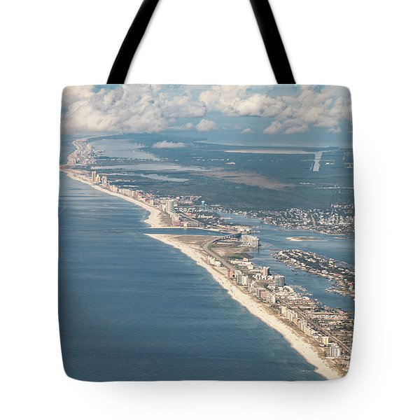Tote Bag featuring the photograph Beachmiles-natural-5137 by Gulf Coast Aerials -