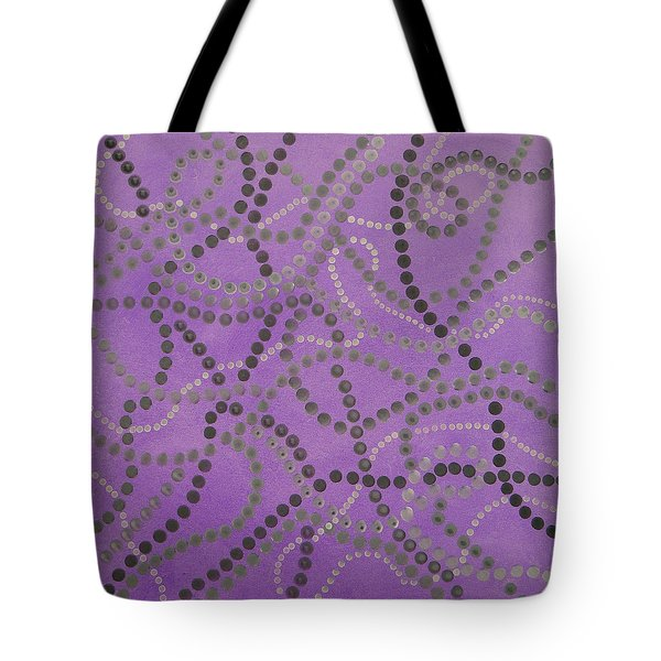 Beads And Pearls - Gray Tote Bag