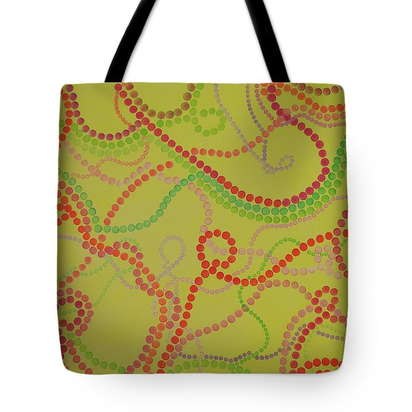 Beads And Pearls  - Happy Girl Tote Bag