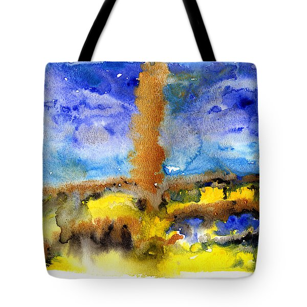 Tote Bag featuring the painting Beam Of Light by Bee-Bee Deigner
