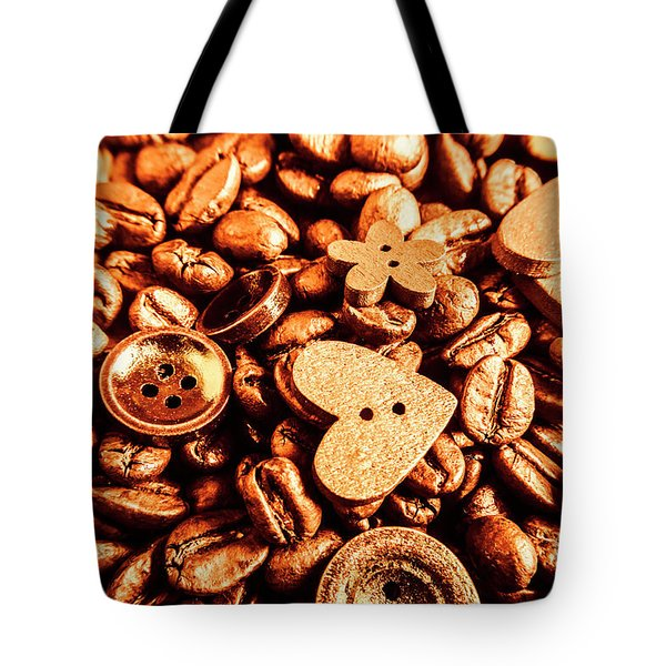 Beans And Buttons Tote Bag
