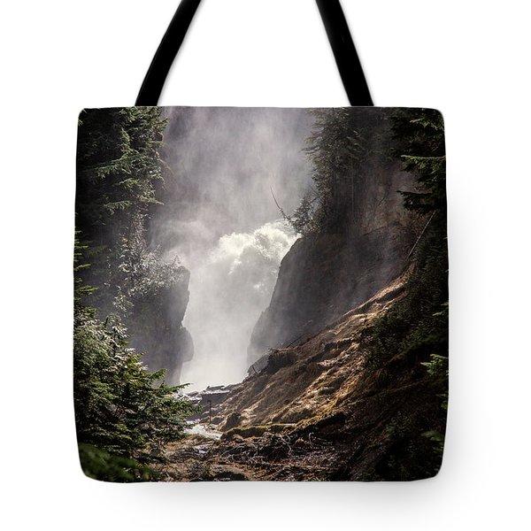 Bear Creek Spray In Color Tote Bag