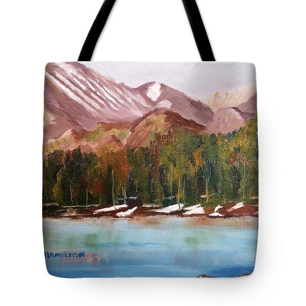 Bear Lake And The Keyboards Tote Bag
