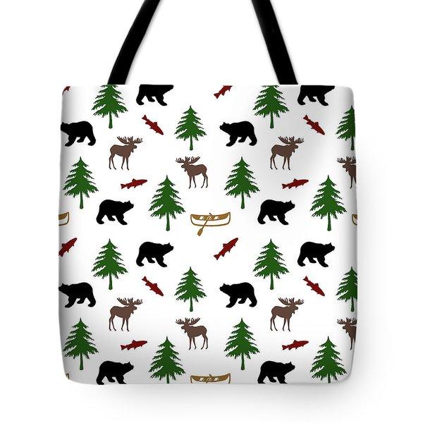 Bear Moose Pattern Tote Bag