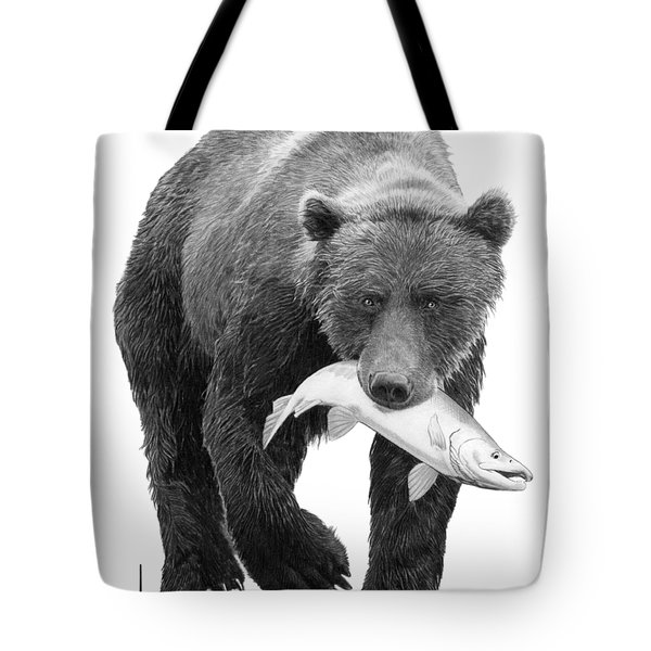 Bear With Dinner Tote Bag