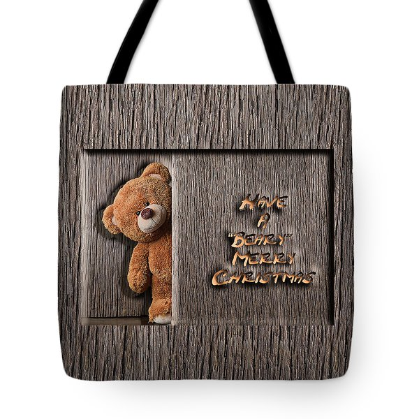 Beary Merry Christmas Tote Bag