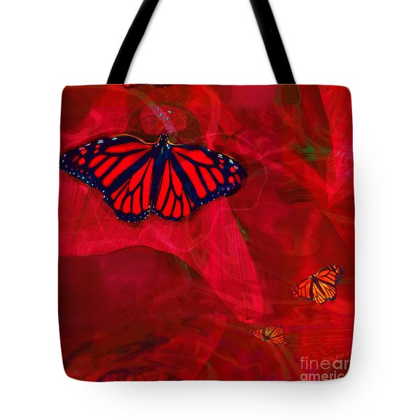 Beautiful And Fragile In Red Tote Bag