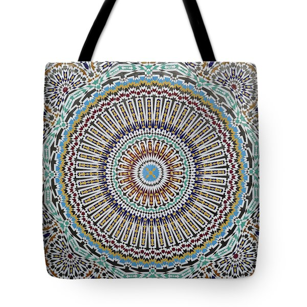 Beautiful Infinity Desgn Mosaic Fountain Tote Bag