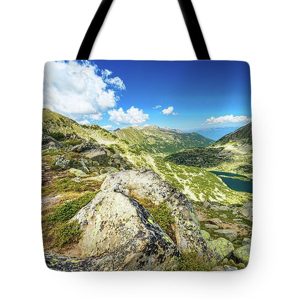 Tote Bag featuring the photograph Beautiful Landscape Of Pirin Mountain by Milan Ljubisavljevic
