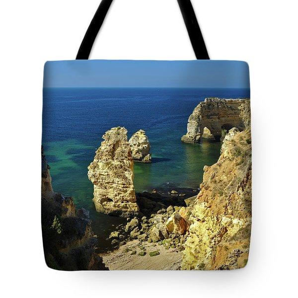 Beautiful Marinha Beach From The Cliffs Tote Bag