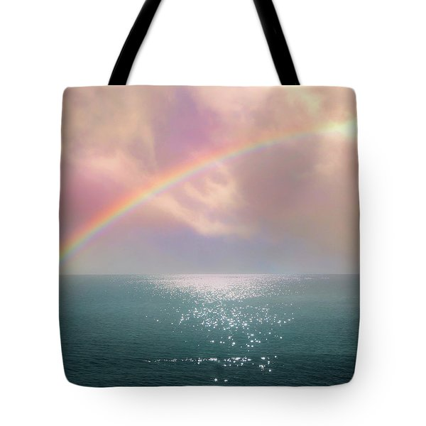 Beautiful Morning In Dreamland With Rainbow Tote Bag