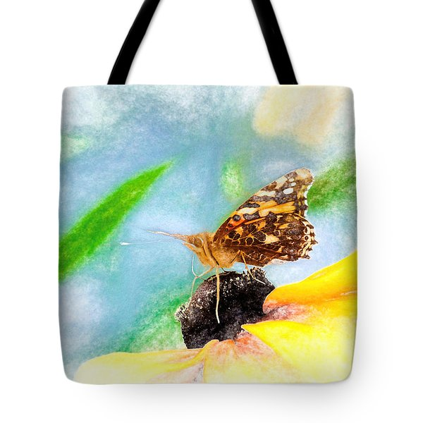 Beautiful Painted Lady Butterfly Tote Bag