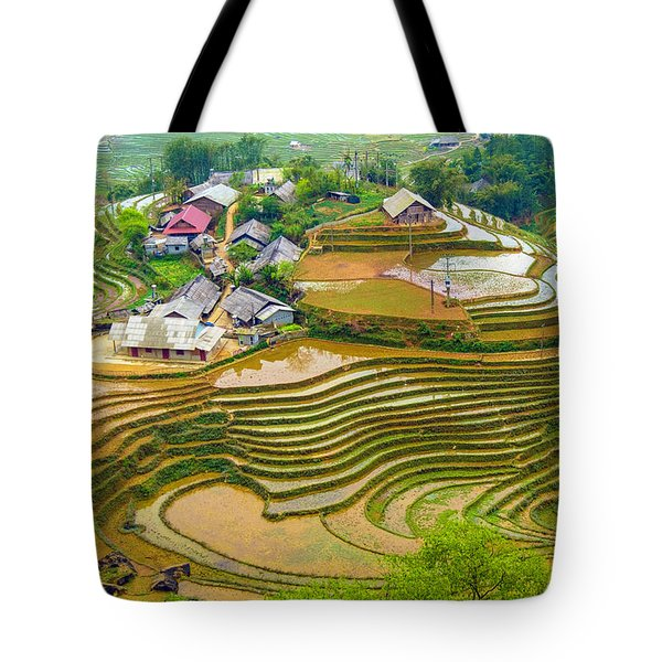 Beautiful Rice Fields, Vietnam Tote Bag