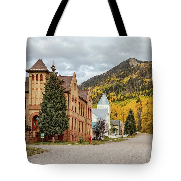 Tote Bag featuring the photograph Beautiful Small Town Rico Colorado by James BO Insogna